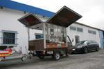 Die TM 703 Benzin die mobile Espressobar, jetzt auch mit der Anhängerkupplung und Espressomobil Aufbau