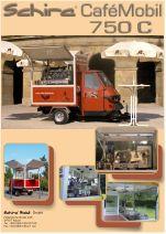 Die APE 50 von Piaggio , die mobile Espressobar für den mobilen Einsatz.