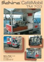Die APE TM 703 von Piaggio , die mobile Espressobar für den mobilen Einsatz.