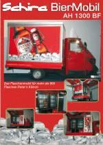 Die Ape 50 von Piaggio in der Bier Version. Die mobile Biertheke mit großen Flaschenkühlschränken. Das Iideale Partymobil.