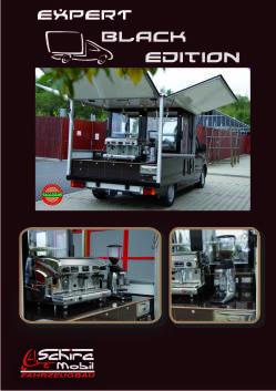 Der Peugeot Expert Black Edition , die mobile Espressobar und Kaffeebar  für den mobilen Einsatz.