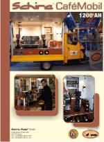 Die Ape 1200 Kaffee in der Espressomobil . Die kleine Ape in der Verion mobile Espressobar.